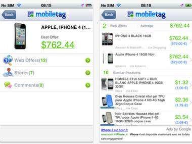 Mobiletag Code Scanner (iOS, iPhone)