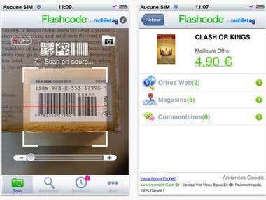 Flashcode scanner (iOS, iPhone)