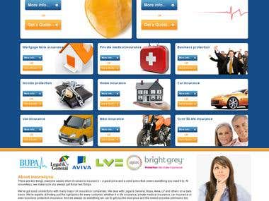Insure4you design and development