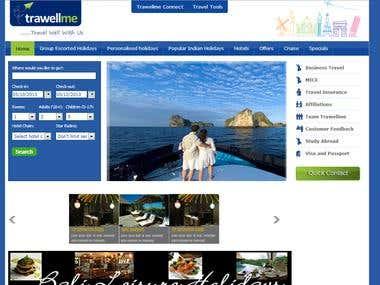 trawellme web design project
