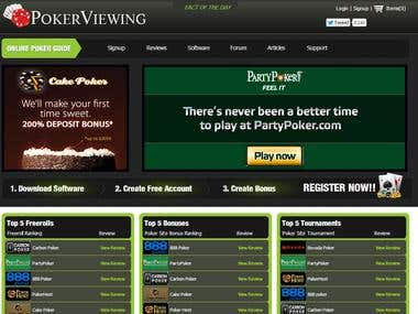 Poker website.