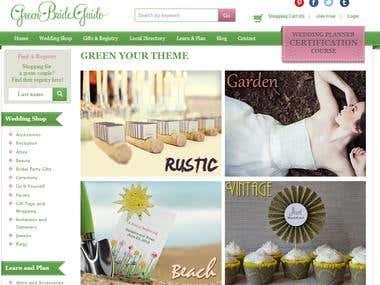 Green Bride Guide web development project