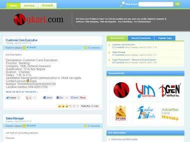 Job Search Site.