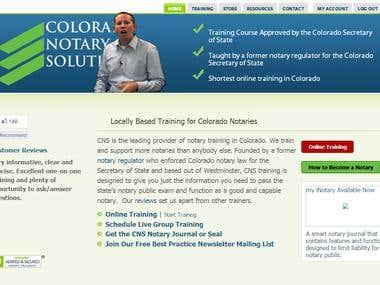 Colorado Notaries Web Design Project