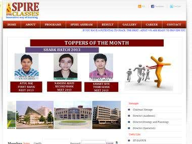 coaching institutes webisite.