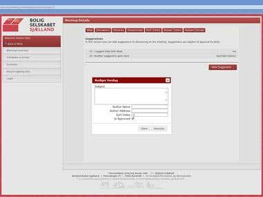 Meeting scheduling web application