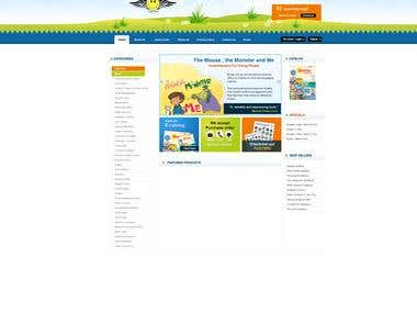 Kids Books Websites with E-commerce
