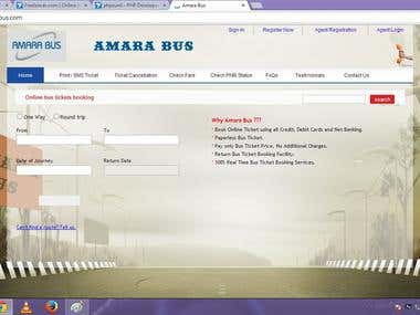 bus ticket booking package