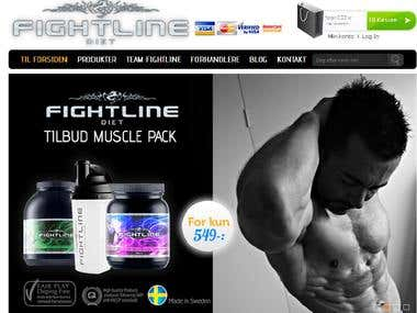 PSD to Magento eCommerce solution for Fightlinediet