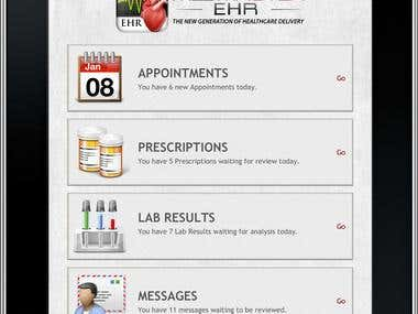 Complete medical application interfaced to leading EHR EMR
