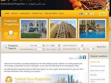 Dubai Rental Properties - A property Listing Portal