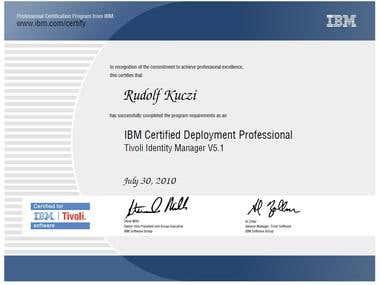 Tivoli Identity Manager certificate