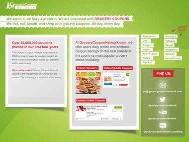 Press kit design for Grocery Coupons Network