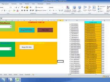 This is application for inject multiple csv format into exce