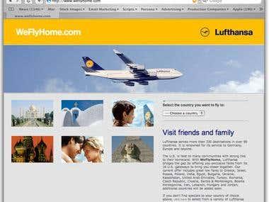 Lufthansa's WeFlyHome.com PPC Campaign Setup