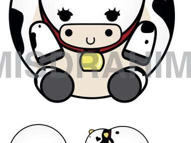 moo moo cow plus design