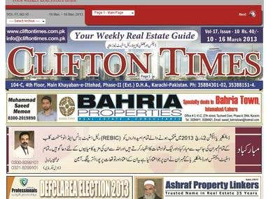 Online Real Estate News Paper - Clifton Times