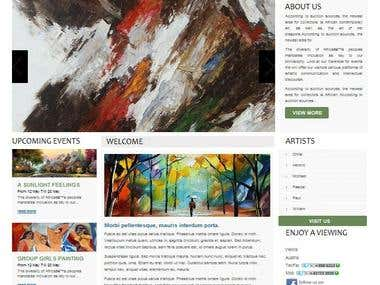 Art Gallery promotional Website