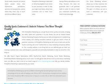 NinetyNine Marketing Website Redesign