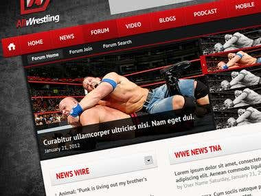 Wrestling website