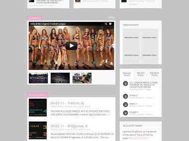 Ladies Gridiron League Australia - New Website