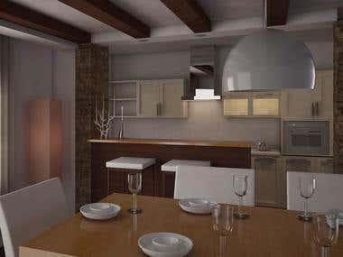 Interior design scenes