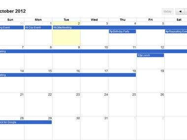 Jquery Based Event Scheduling Calendar