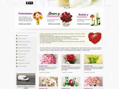 Web Design for a Floral shop in Maxico.