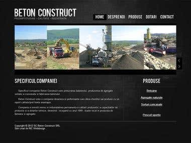 Construction materials website design