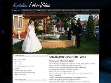 Photo-video website design