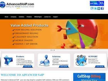 Advanced VoIP Website
