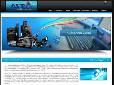 Asterix India Website Design