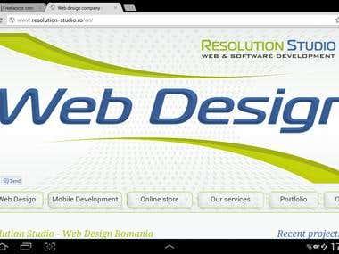 Resolution Studio Website