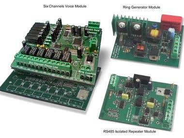 Six Channels Voice/RS485 Repeater/Ring Generator Module