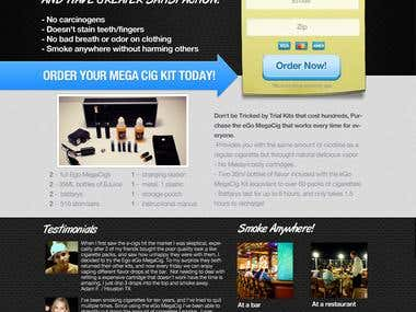 Landing Page for e-Cig company