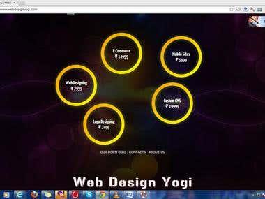 WebDesignYOGI.com Landing Page