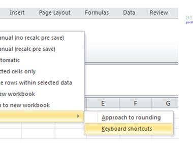 Custom Excel toobar