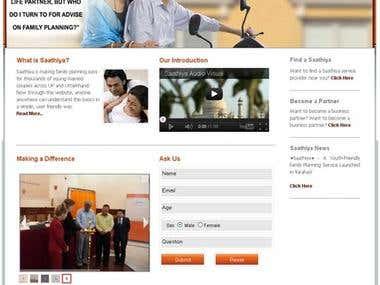 Website Development  for Family Planning