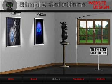 3D model of art gallery