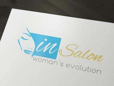 IN Salon Logo Design