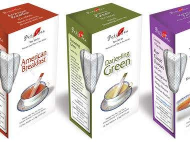 Tea Packaging, UI for Telecom Giants, Digital illustrations