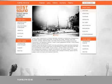 Redesign and layout of the home page