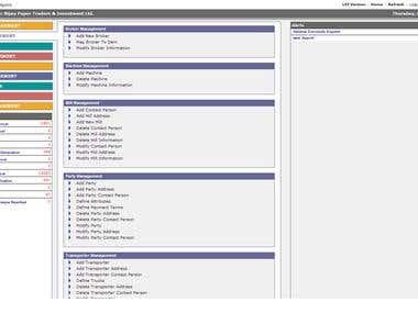 Customized Web Based ERP