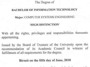 Computer systems engineering certificate