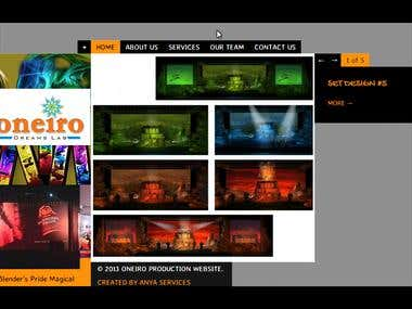 Oneiro Production Website