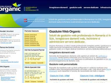 Organic - web hosting services