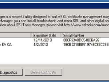 SSLTools Manager