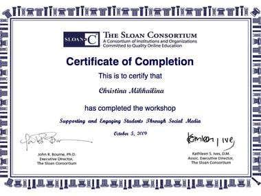 SMM Certificate