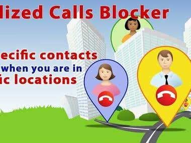 Localized Calls Blocker - UI application and graphics