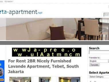 SEO for Jakarta Apartment
